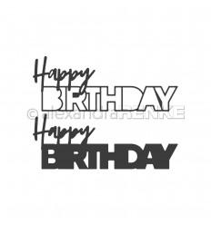 Stanzschablone Happy Birthday - Alexandra Renke