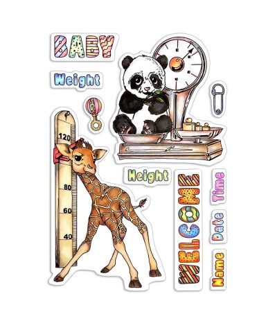 Clear Stamps Baby Height & Weight - Ciao Bella