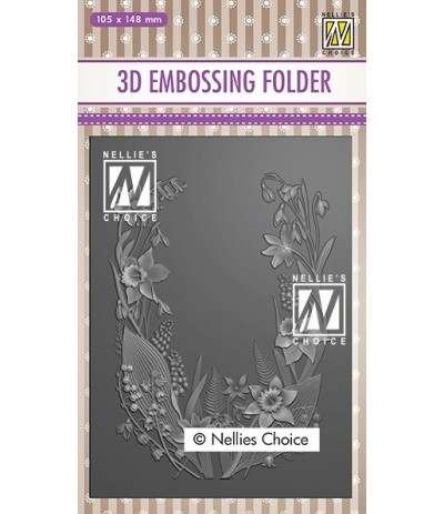 3D Prägeschablone Flower Frame - Nellie's Choice