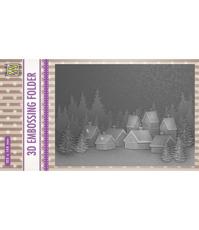 3D Prägeschablone Snowy Village - Nellie's Choice