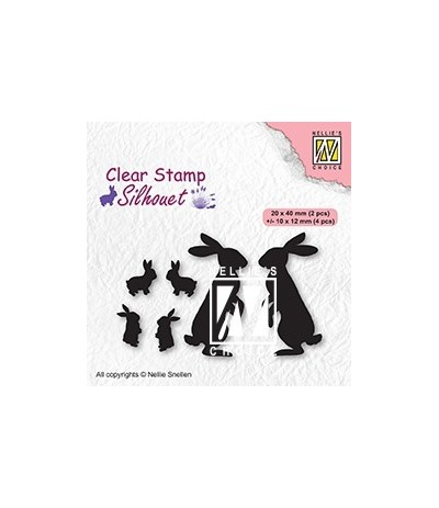 Clear Stamps Rabbits - Nellie's Choice