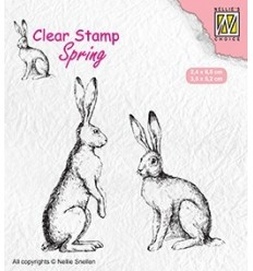 Clear Stamps Two hares (2 Hasen) - Nellie's Choice