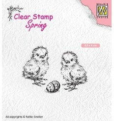 Clear Stamps Chicken and easter egg - Nellie's Choice