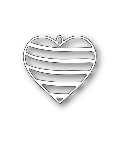 Stanzschablone Banded Heart Locket - Memory Box