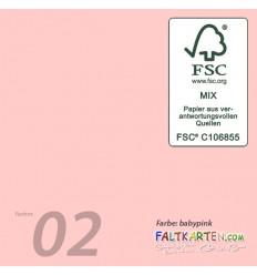 Scrapbooking Papier in babypink, 12 Stk. - FK