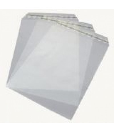 Cellophan-Beutel selbstklebend für Kurvert DIN Lang (120x230mm) - FK