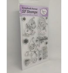 Clear Stamps Schneemänner HoHoHo - Scrapbook Forever
