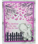 Clear Stamps Zaun und Vogelhäuschen - Scrapbook Forever