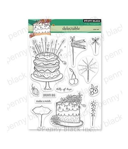 Clear Stamps Delectable - Penny Black
