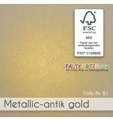 Scrapbooking Papier in metallic amtik gold, 1 Stk. - FK