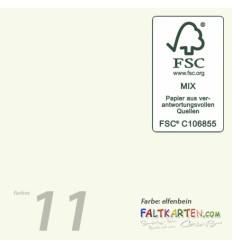 Doppelkarten in elfenbein 10 x 10 cm, 25 Stk. - FK