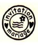 invitation mariage Stempel