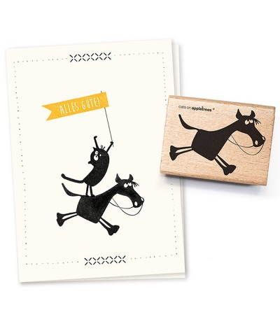 Stempel Hugobald, das Pferd - cats on appletrees