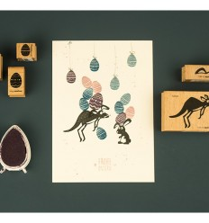 Stempel Hase Fiete - cats on appeltrees