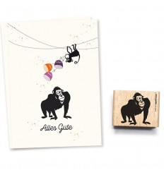 Stempel Gorilla Torge - cats on appletrees