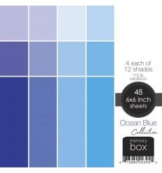 "Scrapbooking Papier Ocean Blue, 6""x6"" - Memory Box"