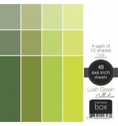 "Scrapbooking Papier Lush Green, 6""x6"" - Memory Box"