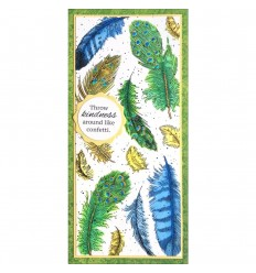 Cling Stempel Slim Feathers - Stampendous