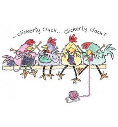 Strickende Hühner Stempel