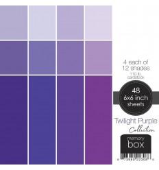 "Scrapbooking Papier Twilight Purple, 6""x6"" - Memory Box"
