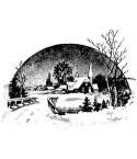Winterlandschaft Stempel
