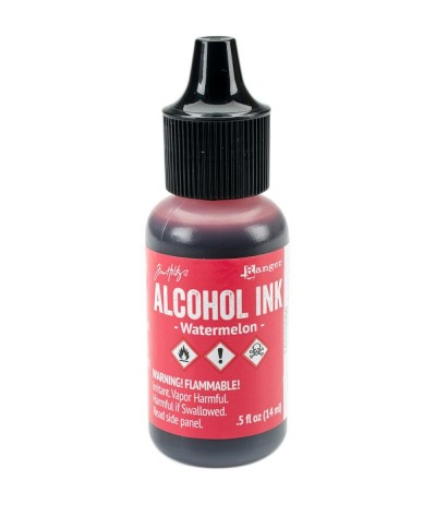 Alcohol Ink Watermelon - Tim Holtz