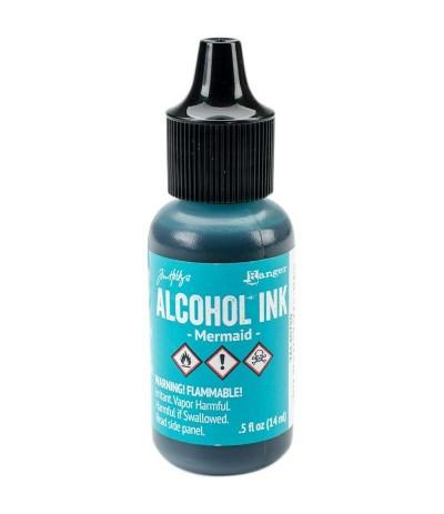 Alcohol Ink Mermaid - Tim Holtz