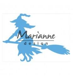 Stanzschablone Hexe auf Besen - Marianne Design