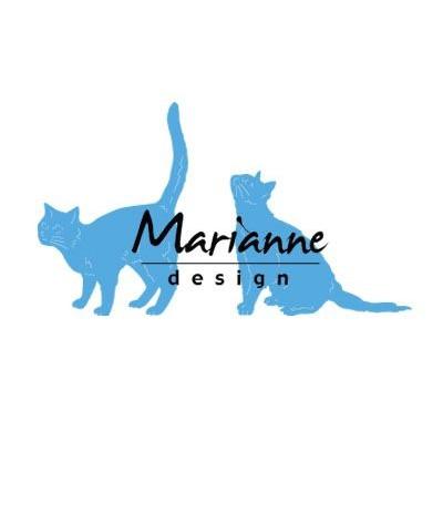 Stanzschablonen Katzen - Marianne Design