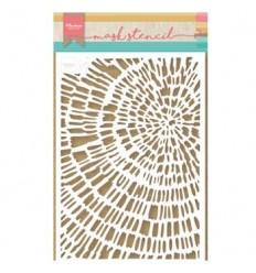 Stencil Schablone Sliced Wood - Marianne Design
