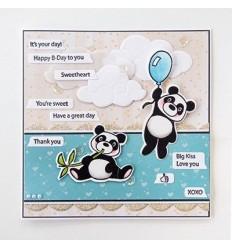 Stanzschablonen und Stempel Set Pandas - Marianne Design