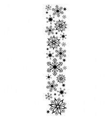 Prägeschablone Schneeflocken, lang - Darice