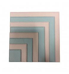 Stanzschablonen gepunktete Quadrate - Dress my Craft