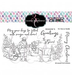 Clear Stamps Santa's Sleigh - Colorado Craft Company