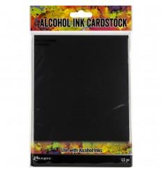Alcohol Ink Cardstock, schwarz, matt - Ranger