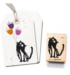 Stempel Kater Fritz - cats on appletrees