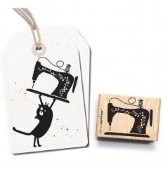 Stempel Nähmaschine - cats on appletrees