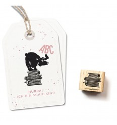 Stempel Bücherstapel - cats on appletrees