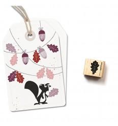 Ministempel Eichenblatt - cats on appletrees