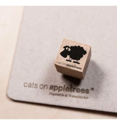 Ministempel Schaf Gertrud - cats on appletrees