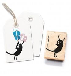 Stempel Katze Friedegunde stehend - cats on appletrees