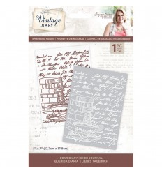 Prägeschablone Vintage Diary A Moment In Time - Crafters Companion