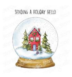 Cling Stempel Holydy Snow Globe - StampingBella