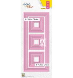 Stanzschablone Slim Lines-squares - Nellie's Choice