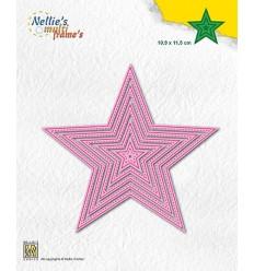 Stanzschablone 5-Point Stars (mit Nährand) - Nellie's Choice