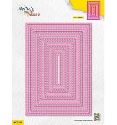 Stanzschablonen Double stitchlines rectangle - Nellie's Choice