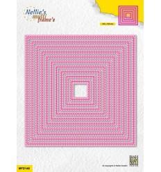 Stanzschablonen Double stitchlines square - Nellie's Choice