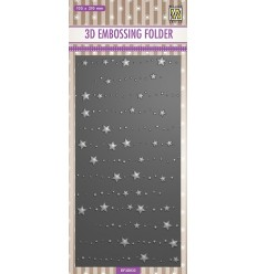 Prägeschablone Stars & dots, lang - Nellie's Choice
