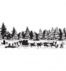 Cling Stempel Santa Claus Village - Creative Expressions