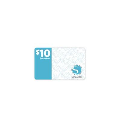 10$ Downloadkarte für Silhouette Cameo Schneideplotter